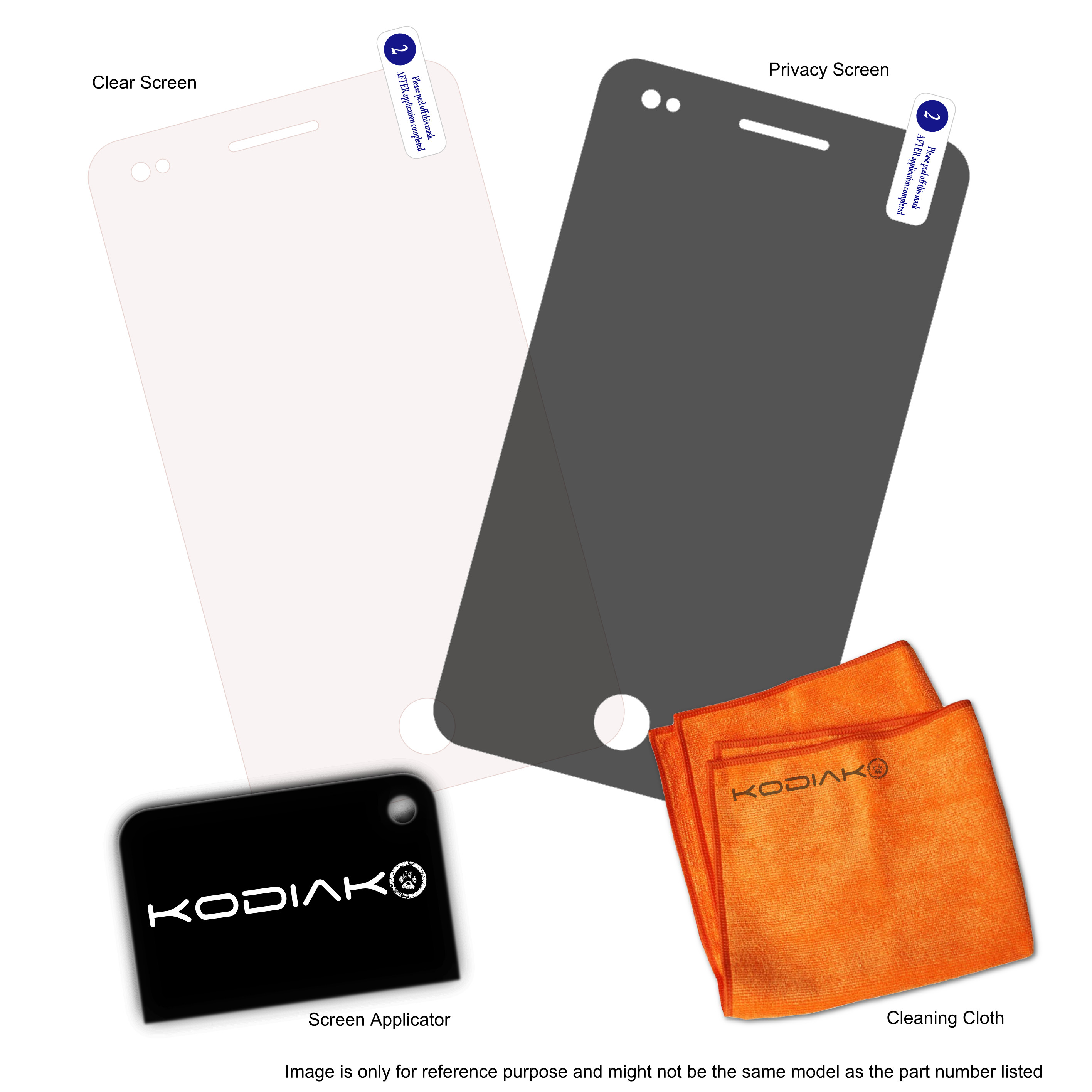 Original Kodiak Screen Protector Samsung C3222 Punch iProtect 2-Package (Clear + Privacy)