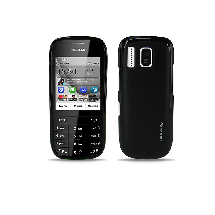 Original Kodiak Jacket Case Nokia Asha 202  Matte Black with Anti-Fingerprint Protector in Retail