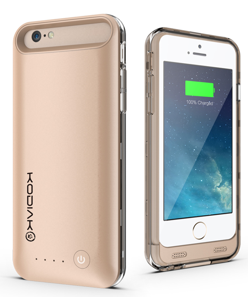 "Original Kodiak Power Suit Case  iPhone 6 / 6S 4.7"" MFI 3100mAh Gold Retail"