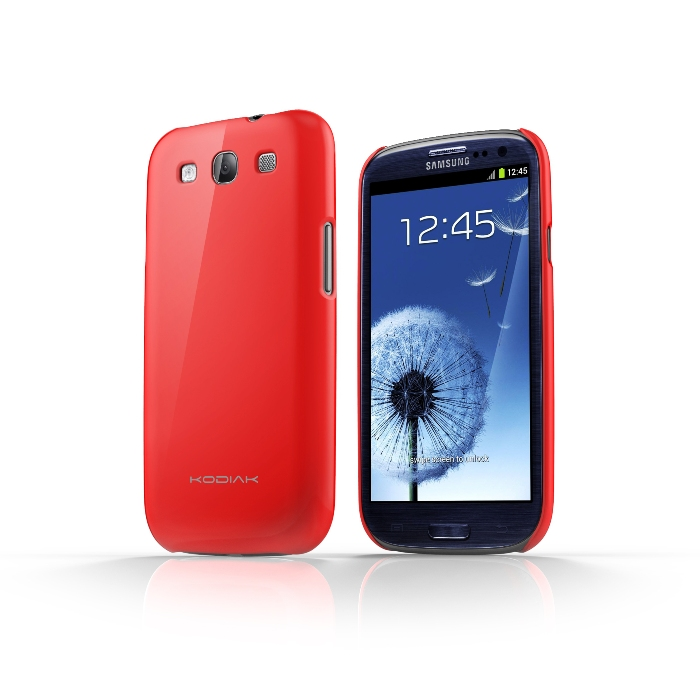 Original Kodiak Skinny Case Samsung Galaxy S3 Gloss Red with Anti-Fingerprint Protector in Retail