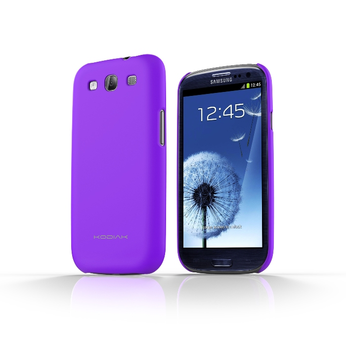 Original Kodiak Skinny Case Samsung Galaxy S3 Matte Violet with Anti-Fingerprint Protector in Retail