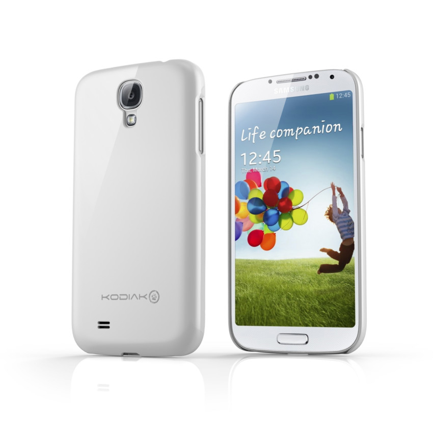Original Kodiak Skinny Case Samsung Galaxy s4 Gloss White with Anti-Fingerprint Protector in Retail