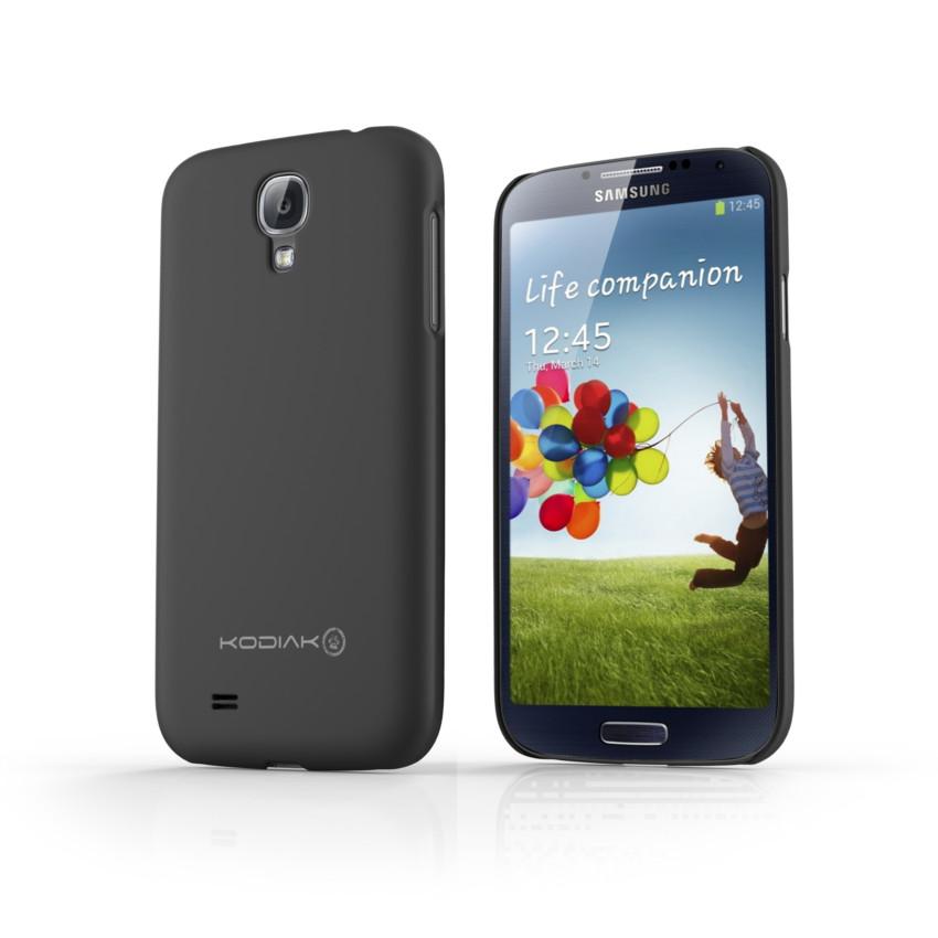 Original Kodiak Skinny Case Samsung Galaxy s4 Matte Black with Anti-Fingerprint Protector in Retail