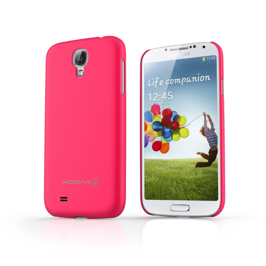 Original Kodiak Skinny Case Samsung Galaxy s4 Matte Pink with Anti-Fingerprint Protector in Retail