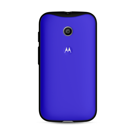 Original Motorola Grip Shell for Motorola Moto E Blue Retail