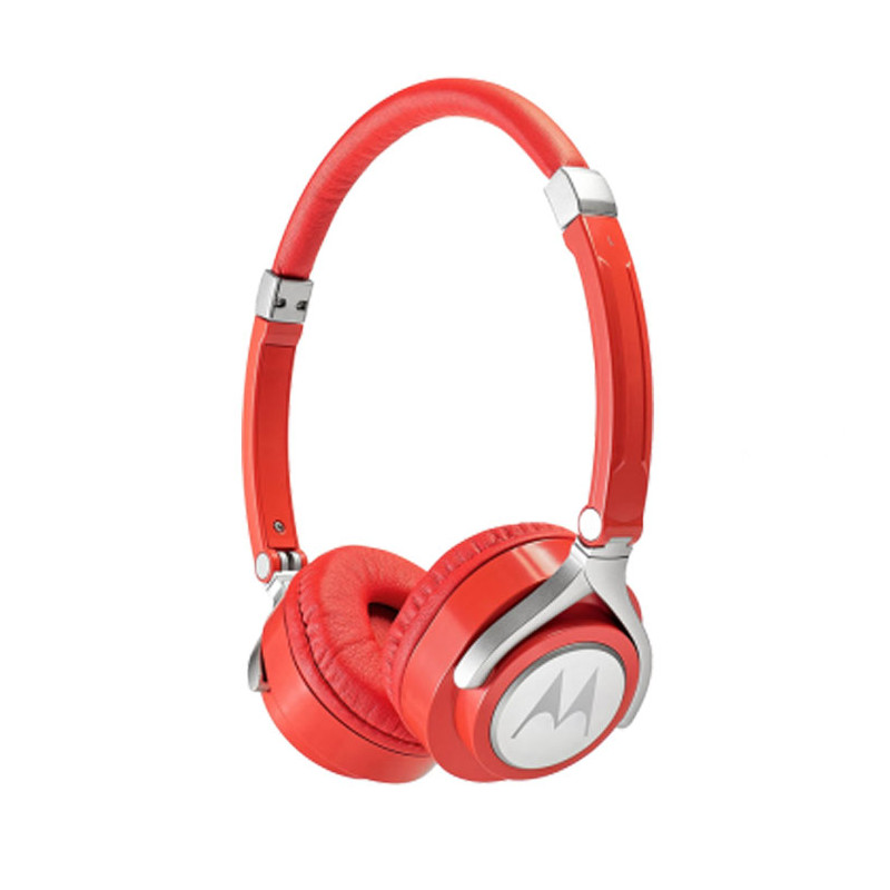 Original Motorola Hands Free 3.5mm Wired Headphones Pulse 2 Premium Stereo W/Remote and Mic Red Retail