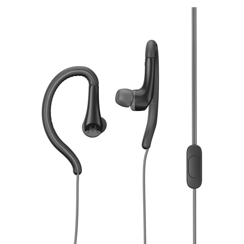 Original Motorola Hands Free 3.5mm Earbuds Sport Water Resistant IPX4 W/ Remote and Mic Black Retail