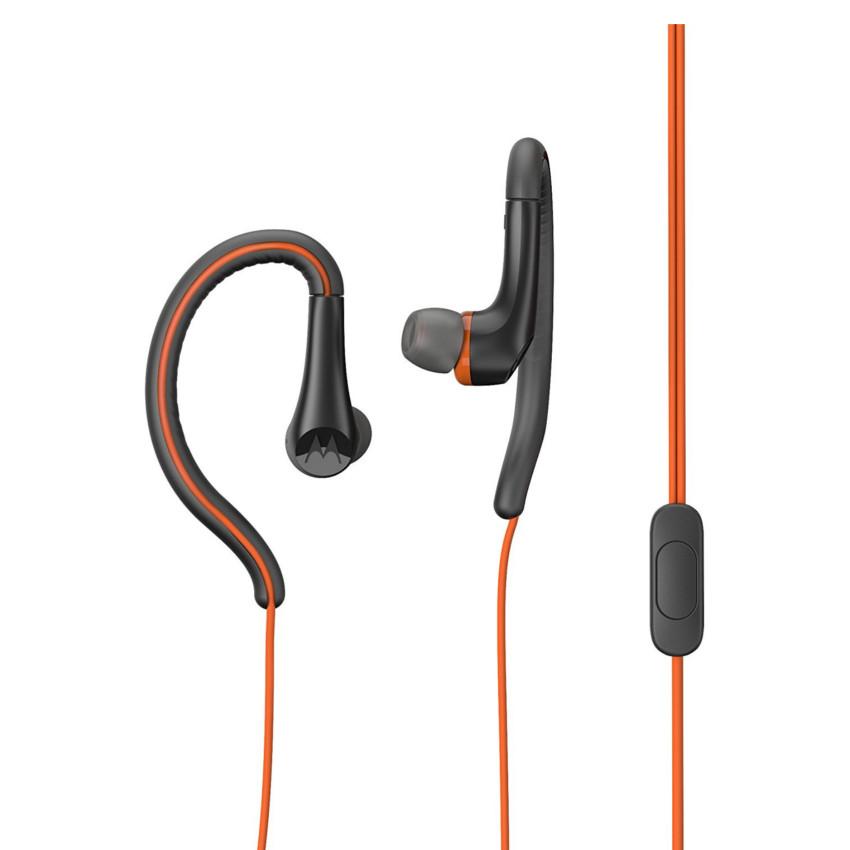 Original Motorola Hands Free 3.5mm Earbuds Sport Water Resistant IPX4 W/ Remote and Mic Flame Orange Retail