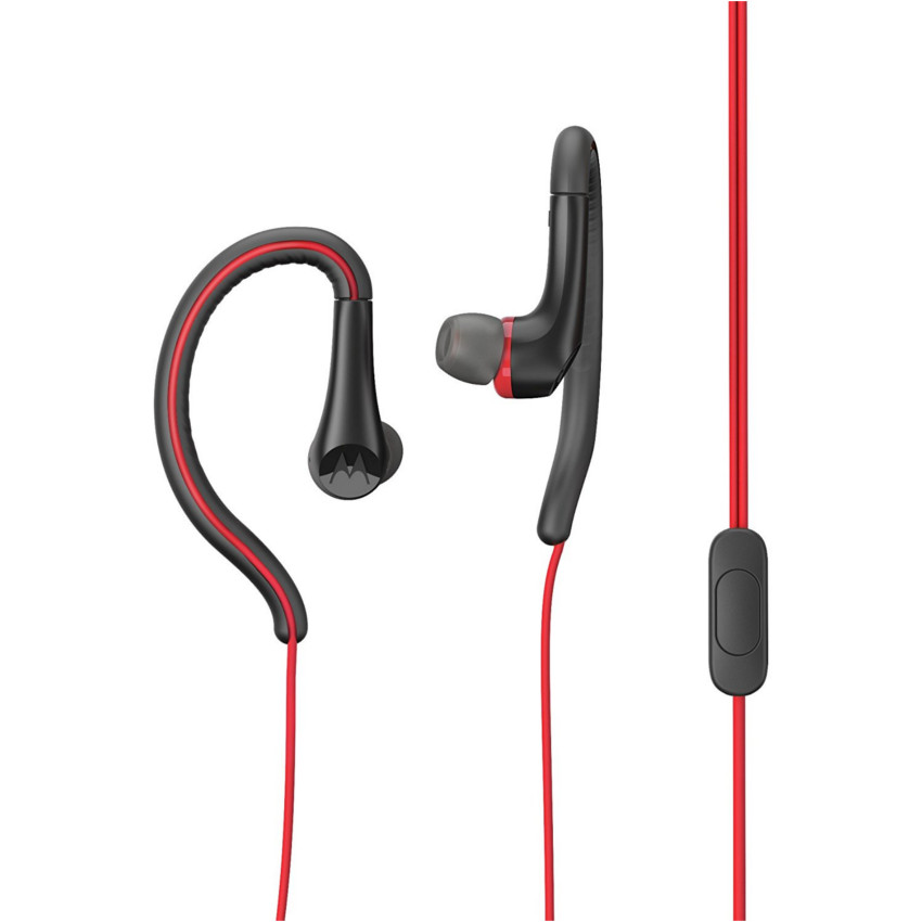 Original Motorola Hands Free 3.5mm Earbuds Sport Water Resistant IPX4 W/ Remote and Mic Red Retail