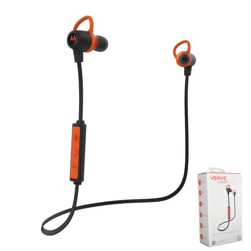 Original Motorola Bluetooth Stereo VerveLoop IPX4 Black-Orange Retail