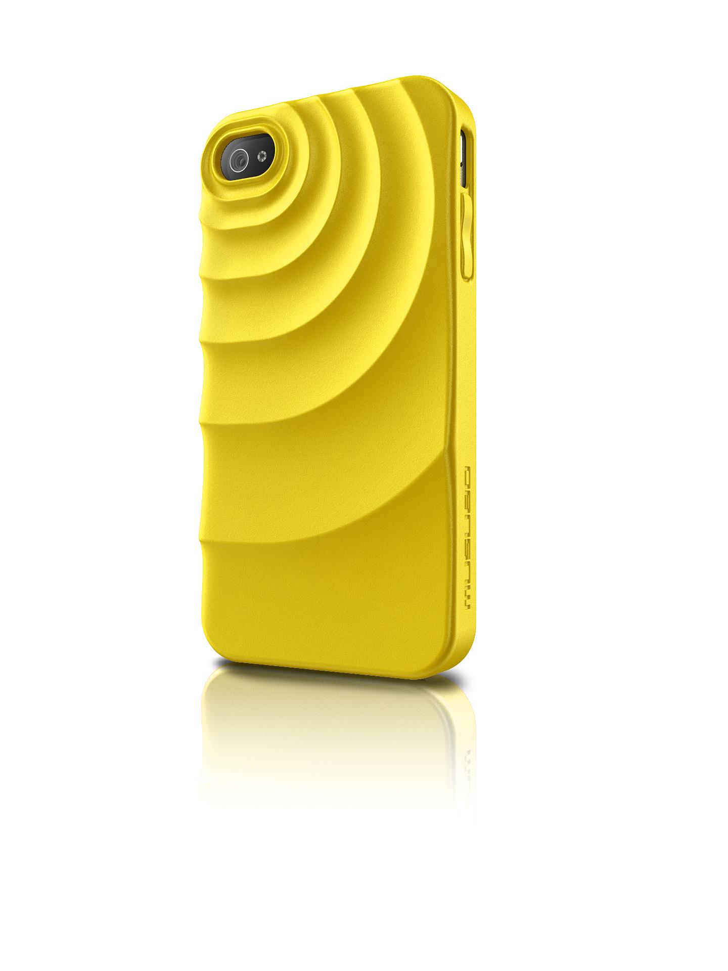 Original Musubo Case Ripple  Iphone 4S/4G Yellow Retail