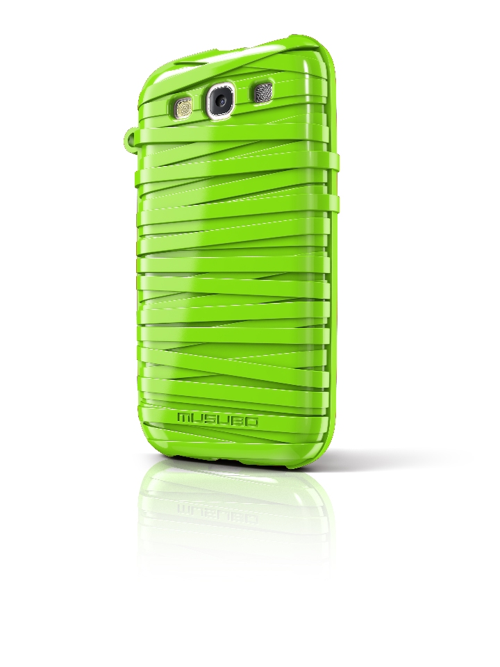 Original Musubo Case Rubber Band Samsung Galaxy S3 Green Retail