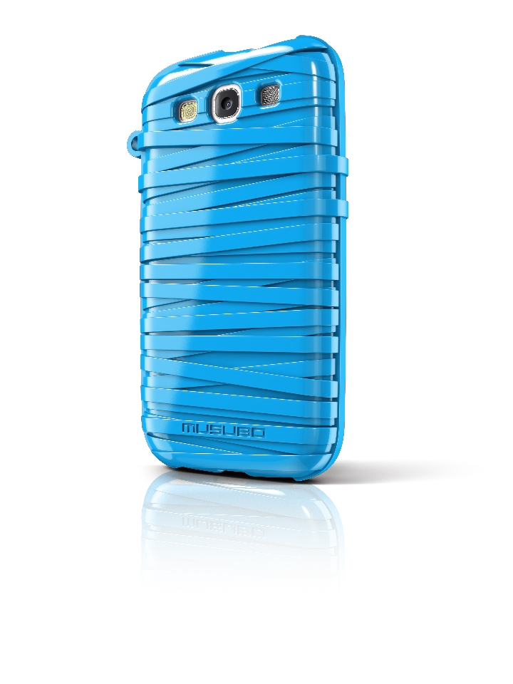 Original Musubo Case Rubber Band Samsung Galaxy S3 Sky Blue Retail