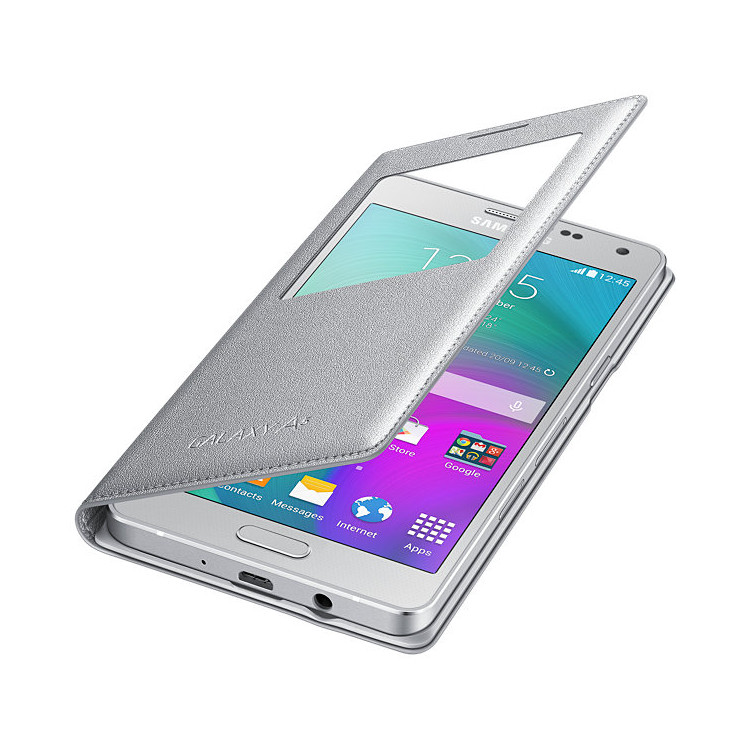 Original Samsung Flip Cover S View  Galaxy A5 Silver Retail