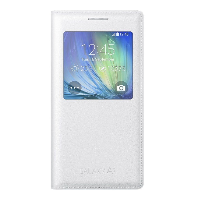 Original Samsung Flip Cover S View  Galaxy A5 White Retail