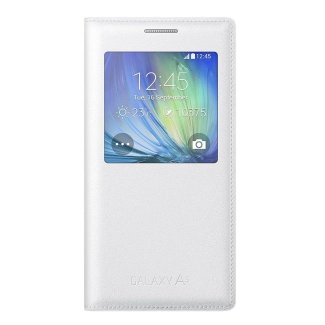 Original Samsung Flip Cover S View  Galaxy A5 White Retail