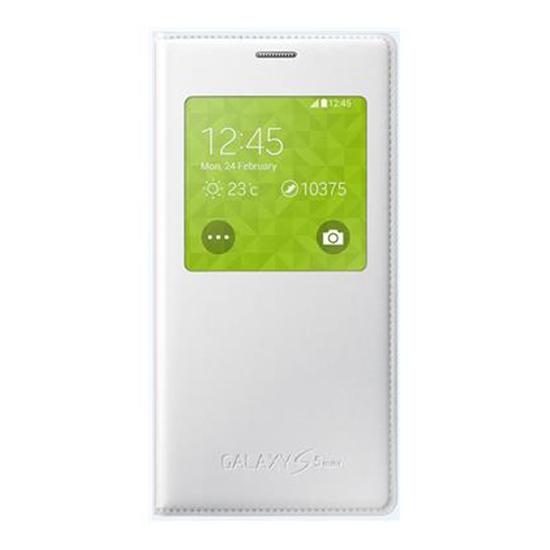 Original Samsung Flip Cover S View  Galaxy S5 Mini G800 White Retail