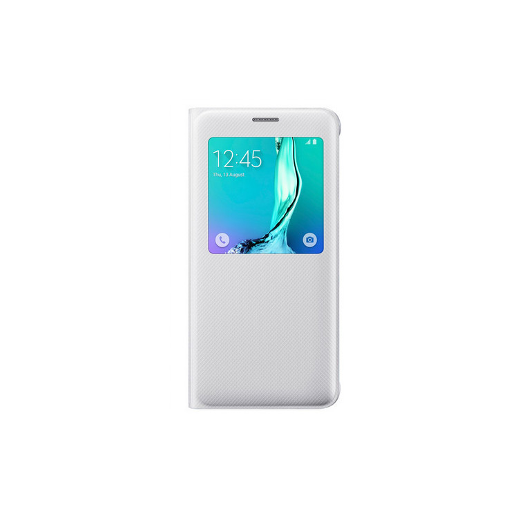 Original Samsung Flip Cover S View  Galaxy S6 Edge PLUS White Retail