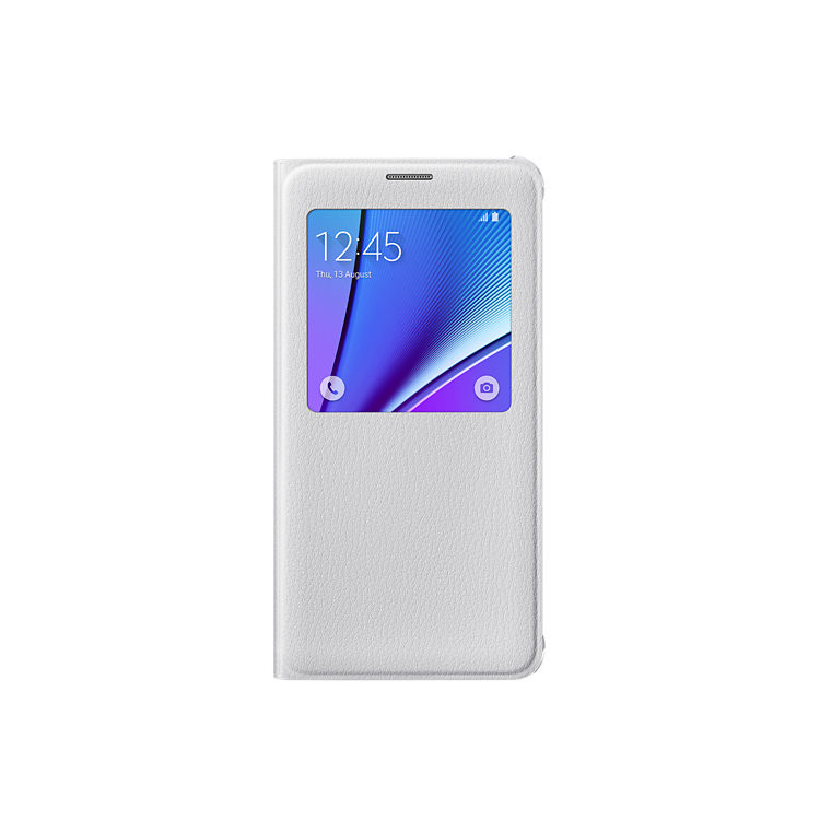 Original Samsung Flip Cover S View  Galaxy Note 5 White Retail