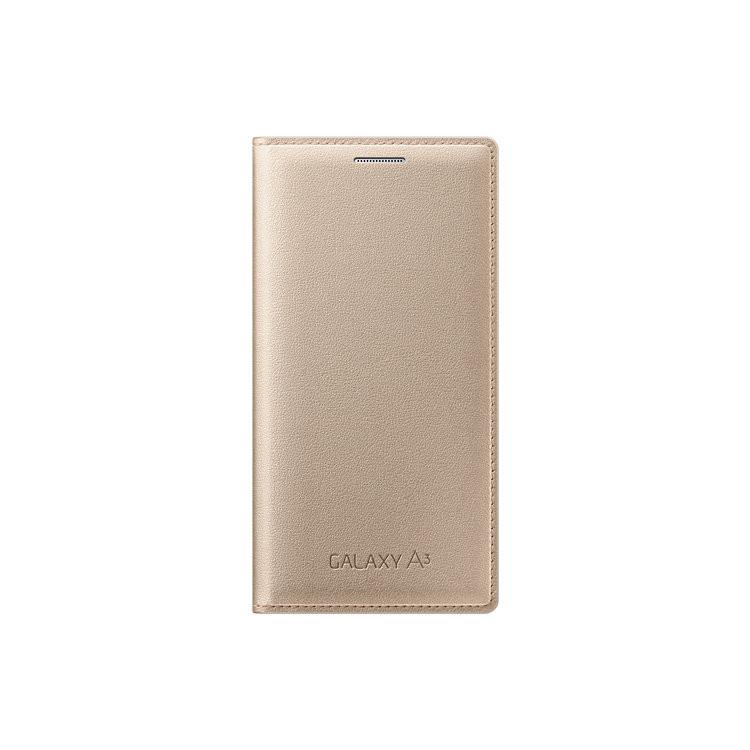 Original Samsung Wallet Flip Cover Galaxy  A3 Gold Retail