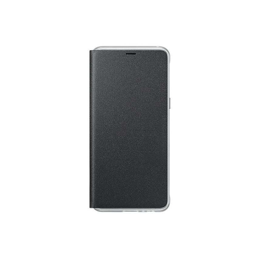Original Samsung Neon Flip Cover Galaxy A8 Plus 2018 Black Retail