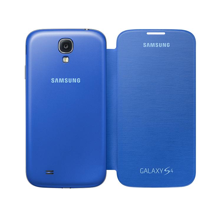Original Samsung Flip Cover Galaxy S4 Light Blue Retail