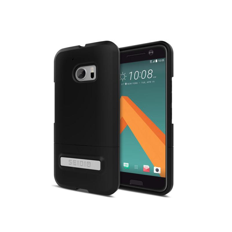 Original Seidio SURFACE with Kickstand for HTC 10 -..Black/Black
