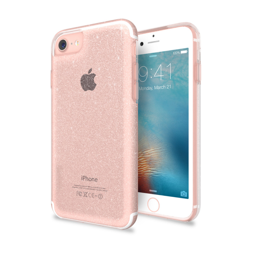Original SKECH Case iPhone 7 Plus /6S Plus Matrix Clear Rose Sparkle Retail