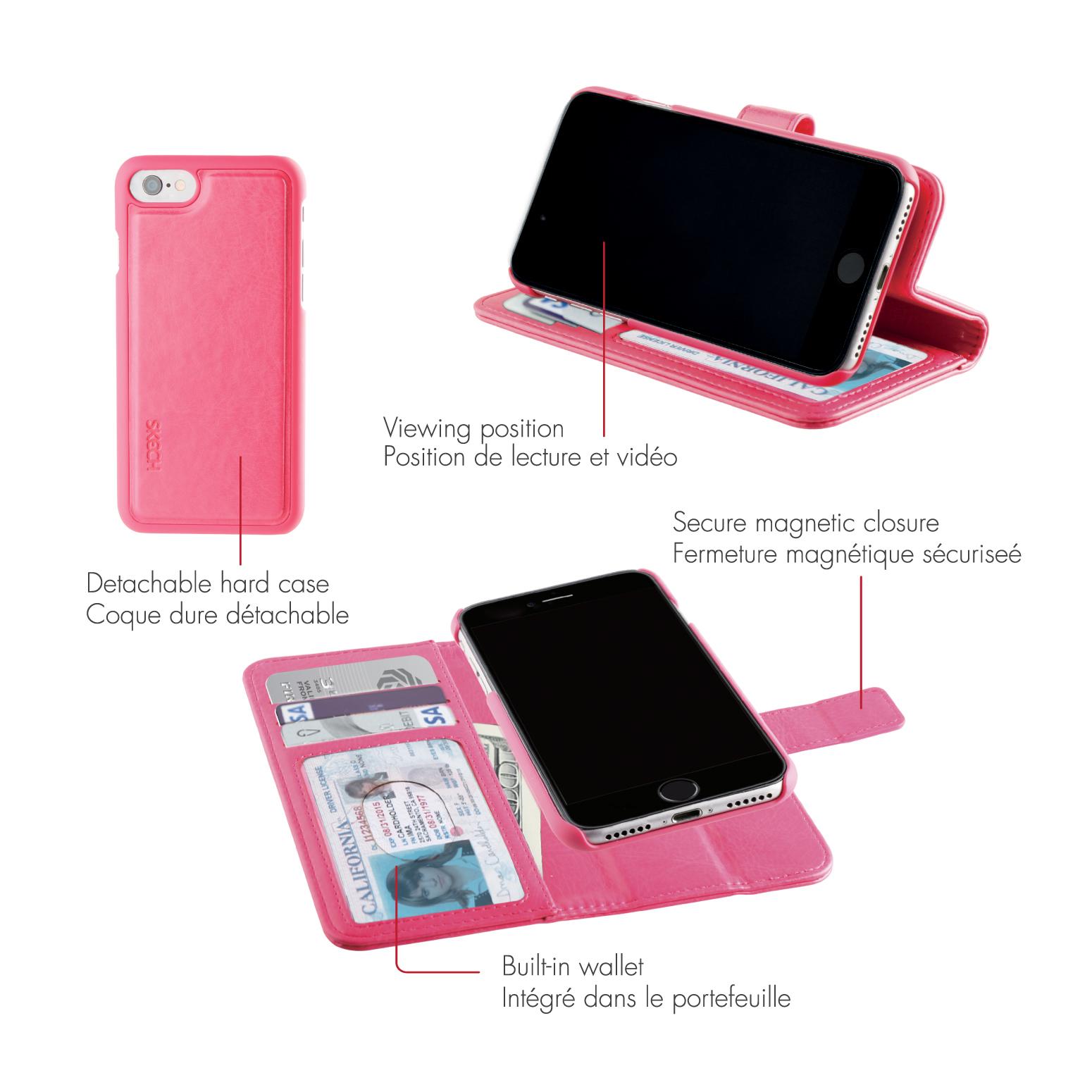 Original SKECH Case iPhone 7 Plus /6S Plus Polo Book Dual Pink Retail