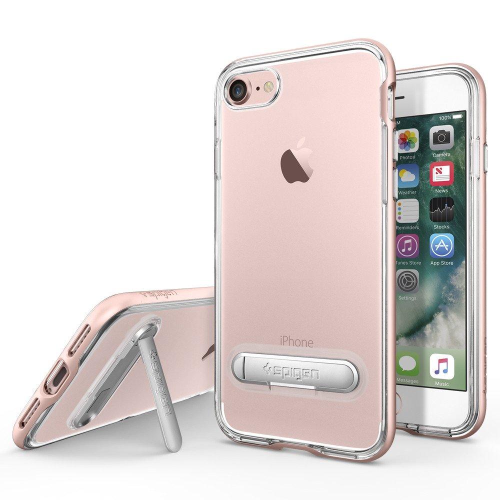 Original Spigen Case iPhone 7 Crystal Hybrid Rose Gold Retail