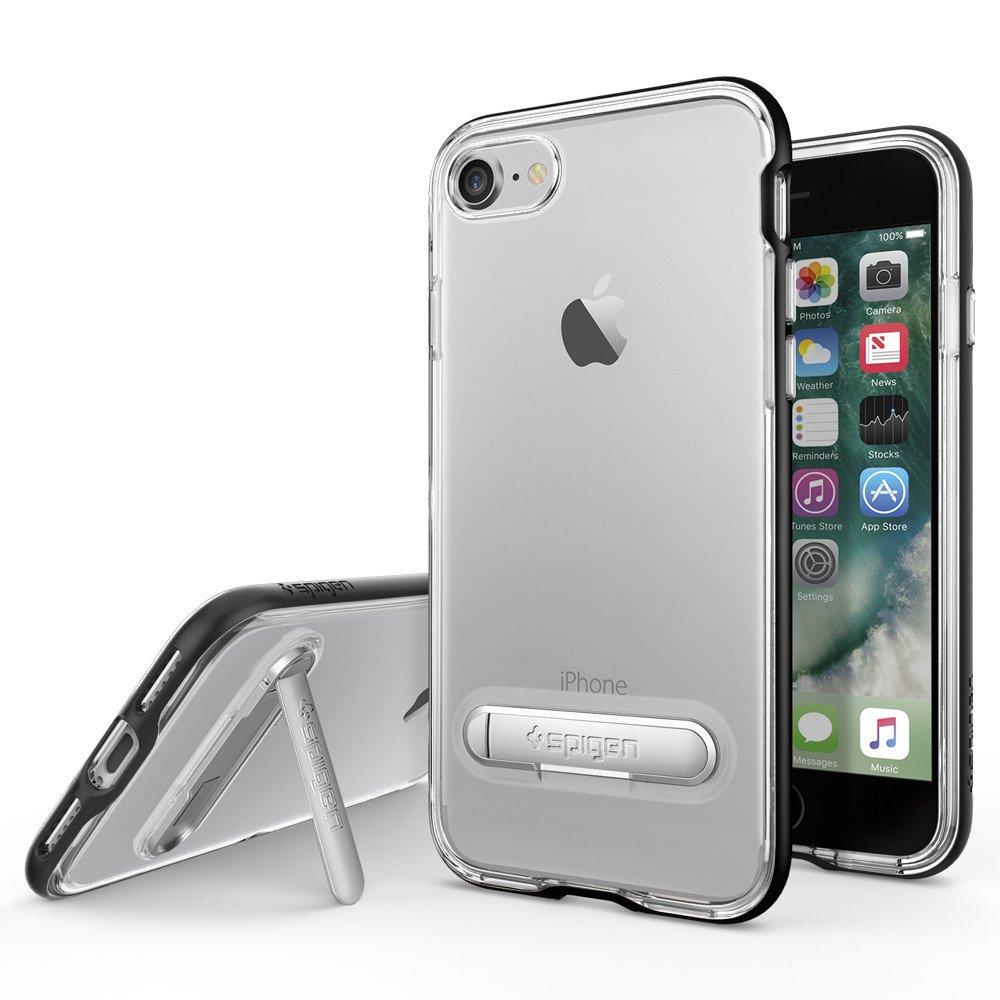 Original Spigen Case iPhone 7 Crystal Hybrid Black Retail