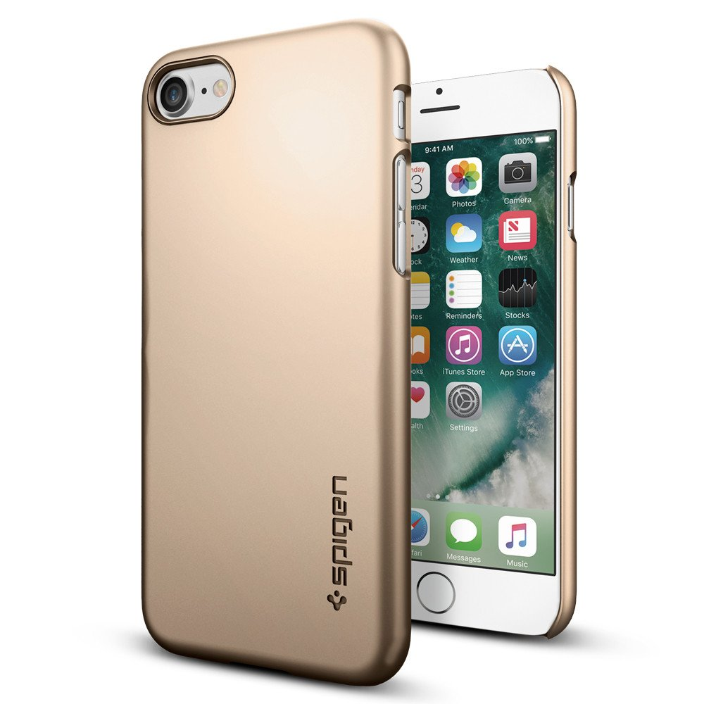Original Spigen Case iPhone 7 Thin Fit Champagne Gold Retail