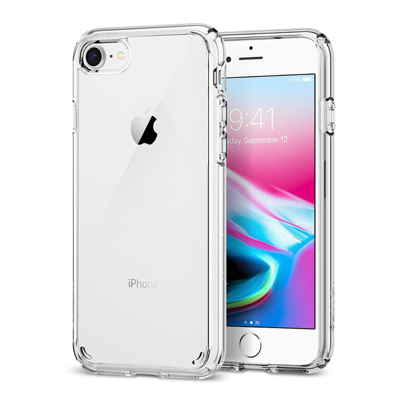 Original Spigen Case iPhone 8 / iPhone 7 Ultra Hybrid 2 Crystal Clear Retail