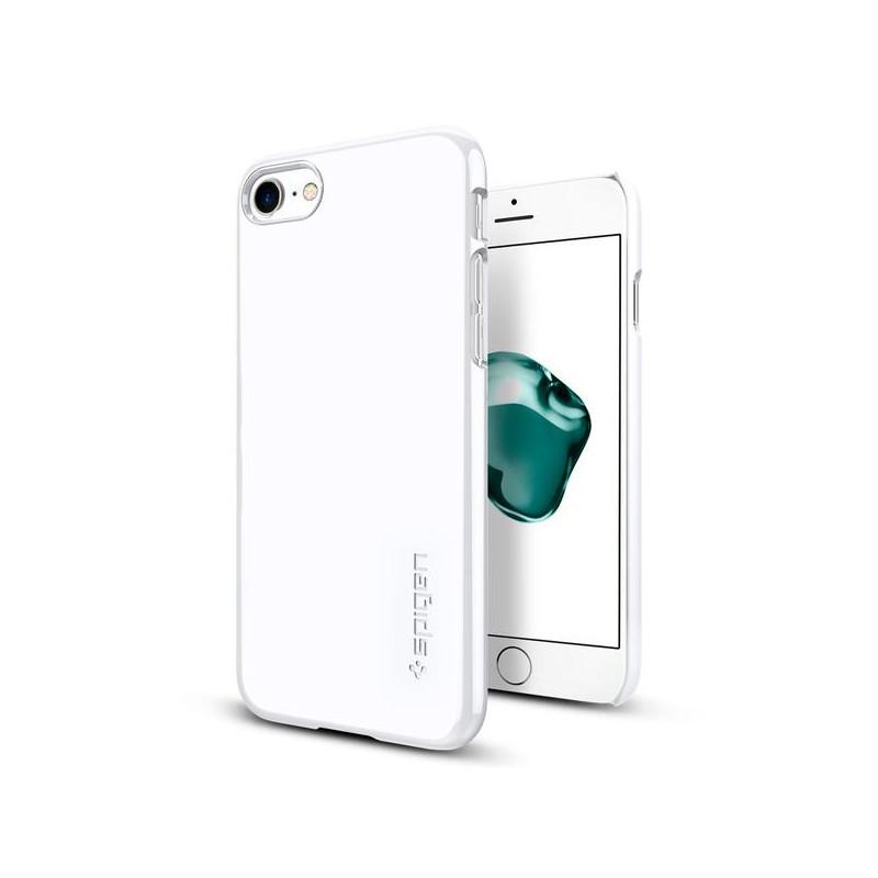 Original Spigen Case iPhone 7 Thin Fit Jet White Retail