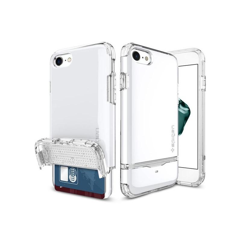 Original Spigen Case iPhone 7 Flip Armor Jet White Retail