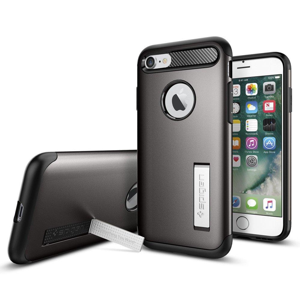 Original Spigen Case iPHONE 7 Plus Slim Armor Gunmetal Retail
