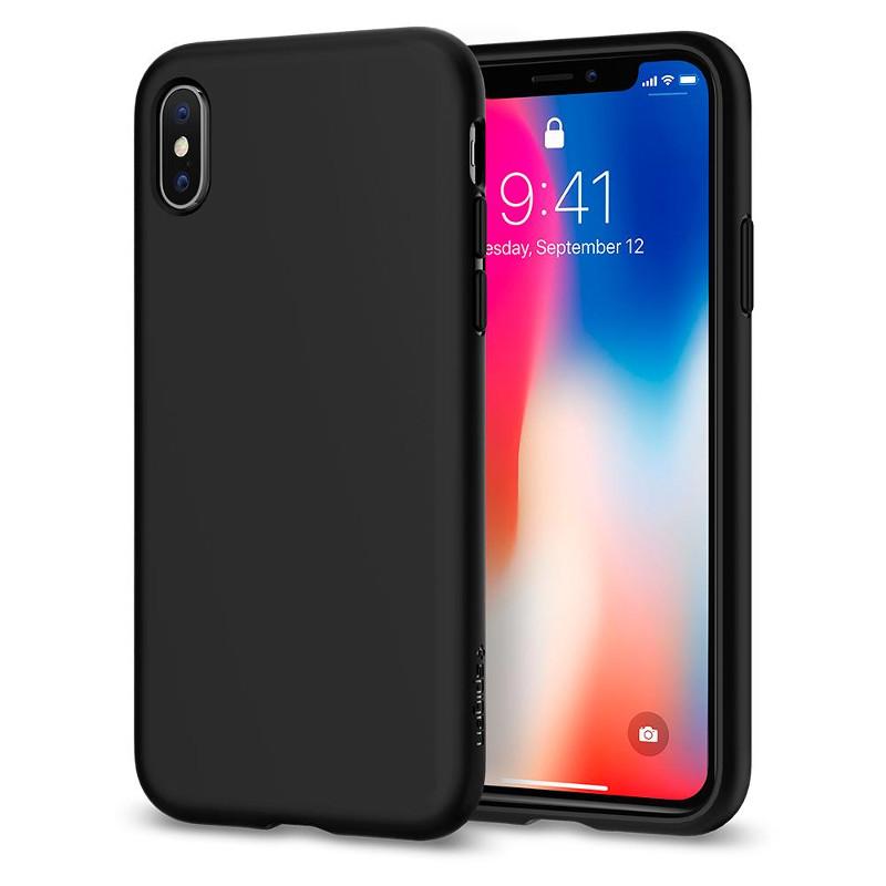 Original Spigen Case Apple iPhone X Liquid Crystal Matte Black Retail