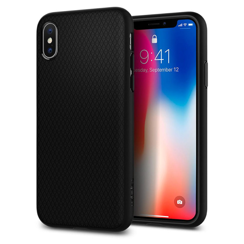 Original Spigen Case Apple iPhone X Liquid Air Matte Black Retail