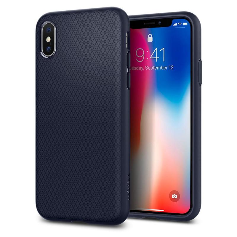 Original Spigen Case Apple iPhone X Liquid Air Midnight Blue Retail