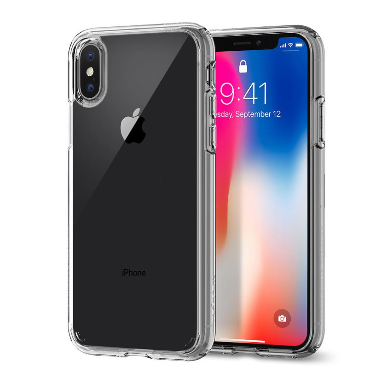 Original Spigen Case Apple iPhone X Ultra Hybrid Crystal Clear Retail