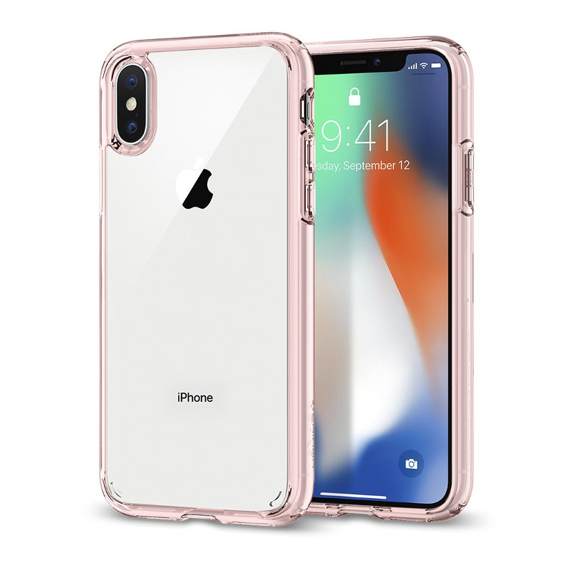 Original Spigen Case Apple iPhone X Ultra Hybrid Rose Crystal Retail