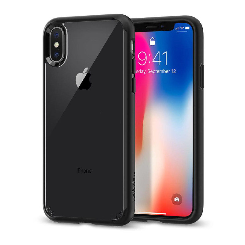 Original Spigen Case Apple iPhone X Ultra Hybrid Matte Black Retail