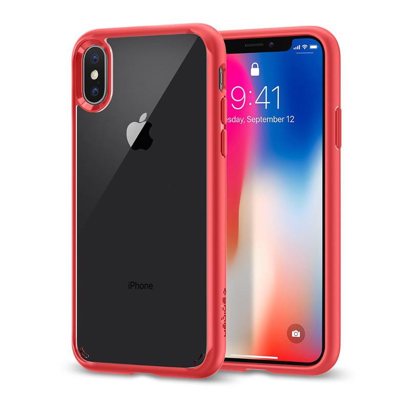 Original Spigen Case Apple iPhone X Ultra Hybrid Red Retail