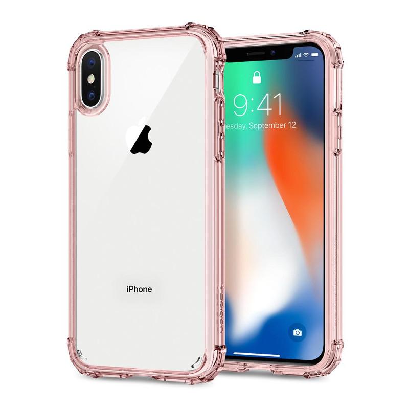 Original Spigen Case Apple iPhone X Cryatal Shell Rose Crystal Retail