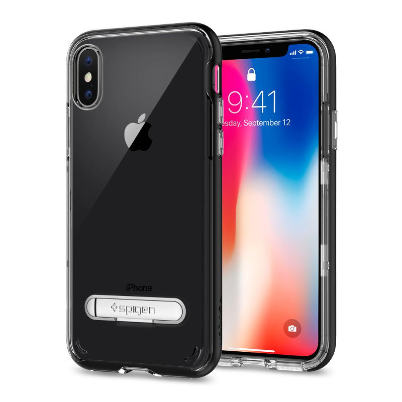 Original Spigen Case Apple iPhone X Crystal Hybrid Black Retail