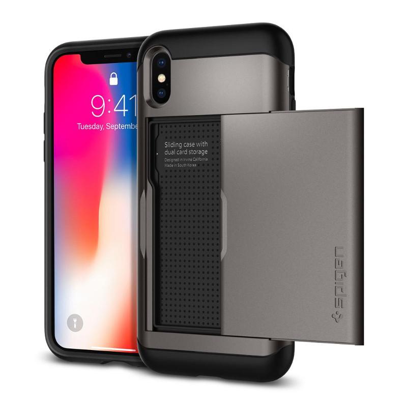 original-spigen-case-apple-iphone-x-slim-armor-cs-gunmetal-retail