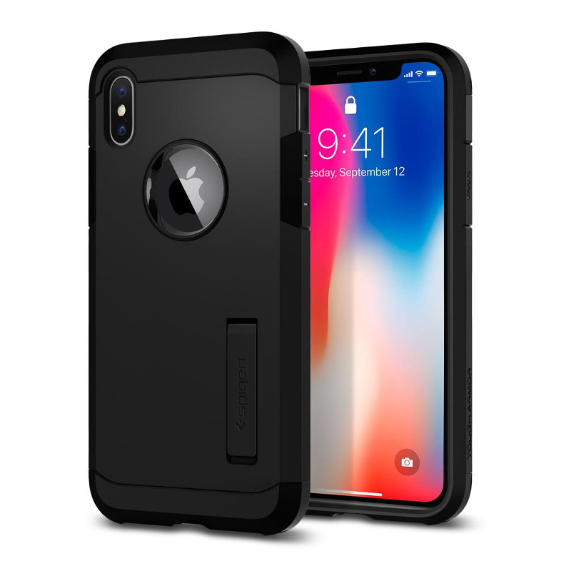 Original Spigen Case Apple iPhone X Tough Armor Matte Black Retail