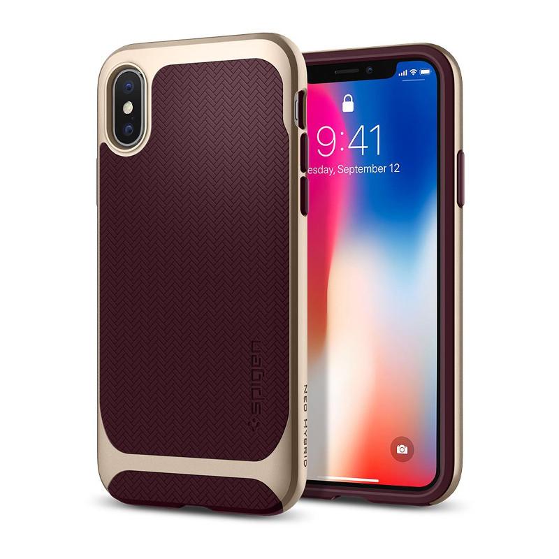 original-spigen-case-apple-iphone-x-neo-hybrid-burgundy-retail