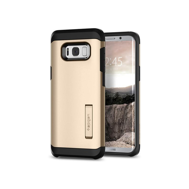 Original Spigen Case Galaxy S8 Plus Tough Armor Gold Maple Retail