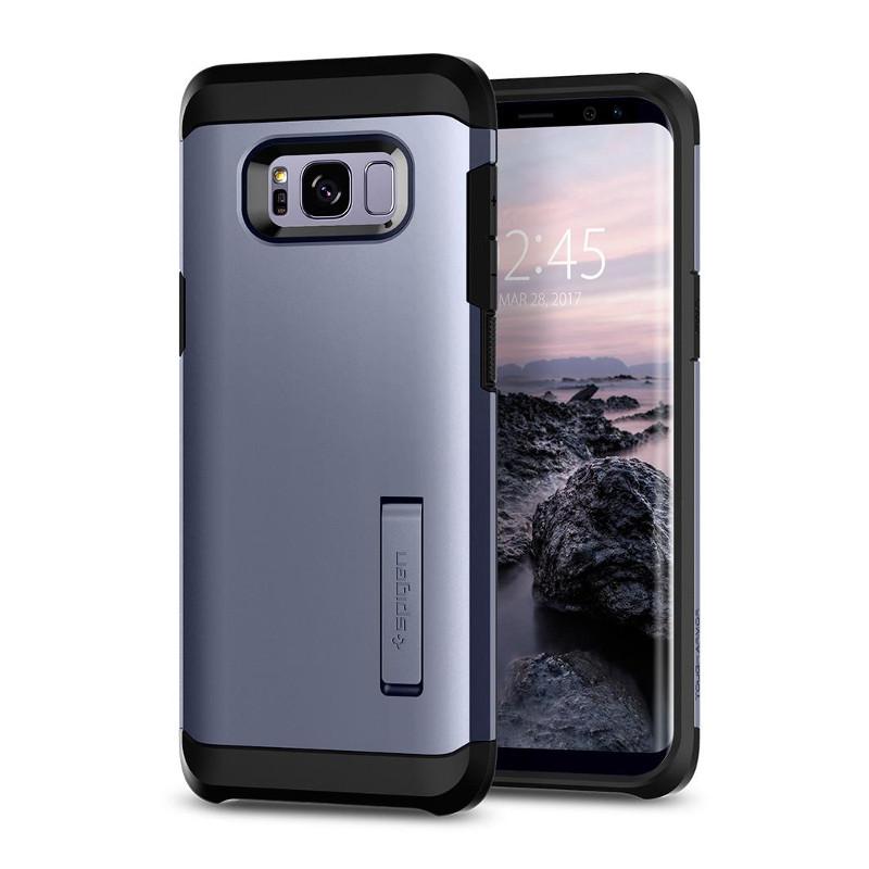Original Spigen Case Samsung Galaxy S8 Plus Tough Armor Orchid Gray Retail